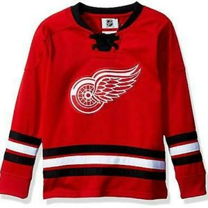 NHL Detroit Red Wings Boy's Outerstuff Hockey Crew
